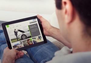 Safer driving blog tablet