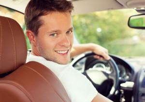 young man driver car