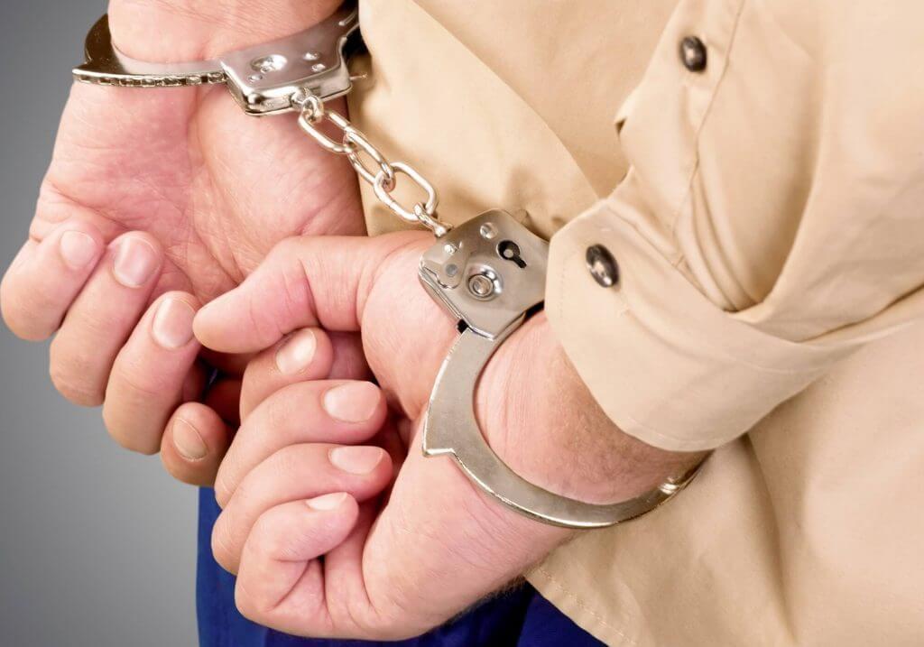 Man handcuffed