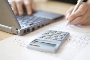 finances at the desk