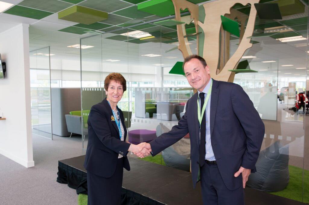 mayor and mike shaking hands north tyneside