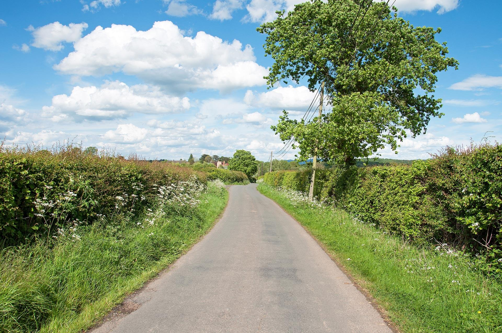 Road in British countryside