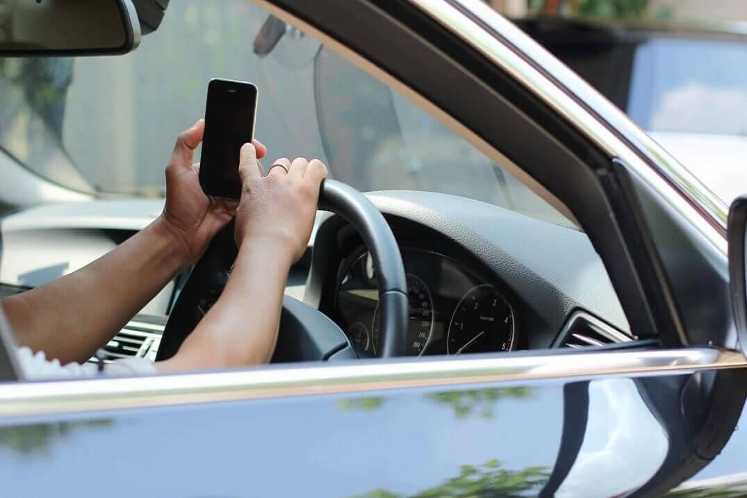 Mobile phone when driving